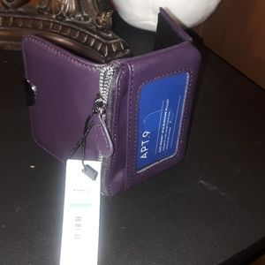 Handbags - Wallet dk purple  soft lether